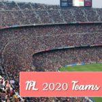 Vivo IPL 2020 Teams, Squad